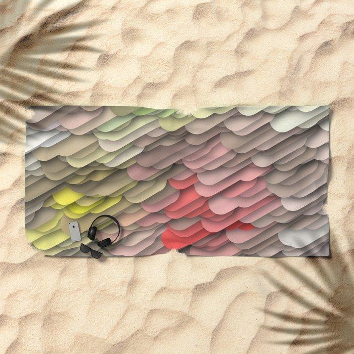 hidden red Beach Towel