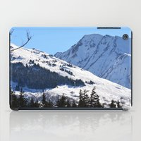 skiing iPad Cases featuring Back-Country Skiing  - I by Alaskan Momma Bear