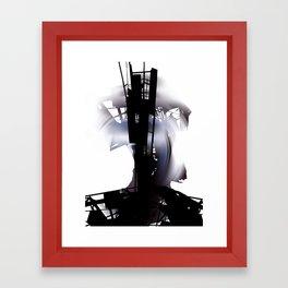 city dawn Framed Art Print
