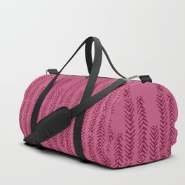 Eye of the Magpie tribal style pattern - raspberry red Duffle Bag