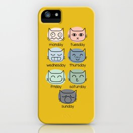 Weekly Cat iPhone Case