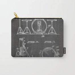 Drum Set Patent - Drummer Art - Black Chalkboard Tasche