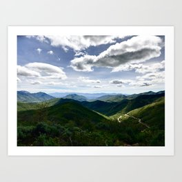 The East Canyon Highway Art Print