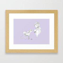 Luna Lovegood and baby thestral Framed Art Print