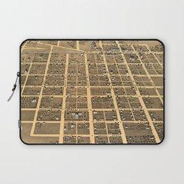 Vintage Pictorial Map of Urbana Illinois (1869) Laptop Sleeve