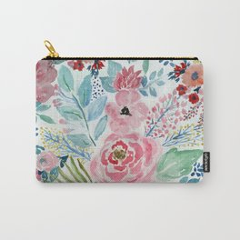 Pretty watercolor hand paint floral artwork. Carry-All Pouch