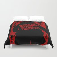 bane Duvet Covers featuring Quote Bane by Maxvtis