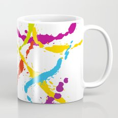 Splattered Rainbow [WHITE] Mug