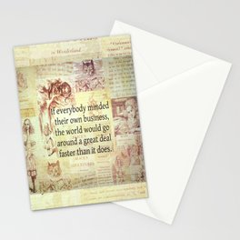 Alice in Wonderland. Quote Stationery Cards