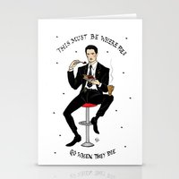 dale cooper Stationery Cards featuring Special Agent Dale Cooper ~ RR Diner by Emma Munger