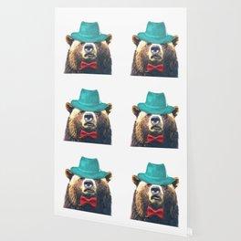Funny Bear Illustration Wallpaper