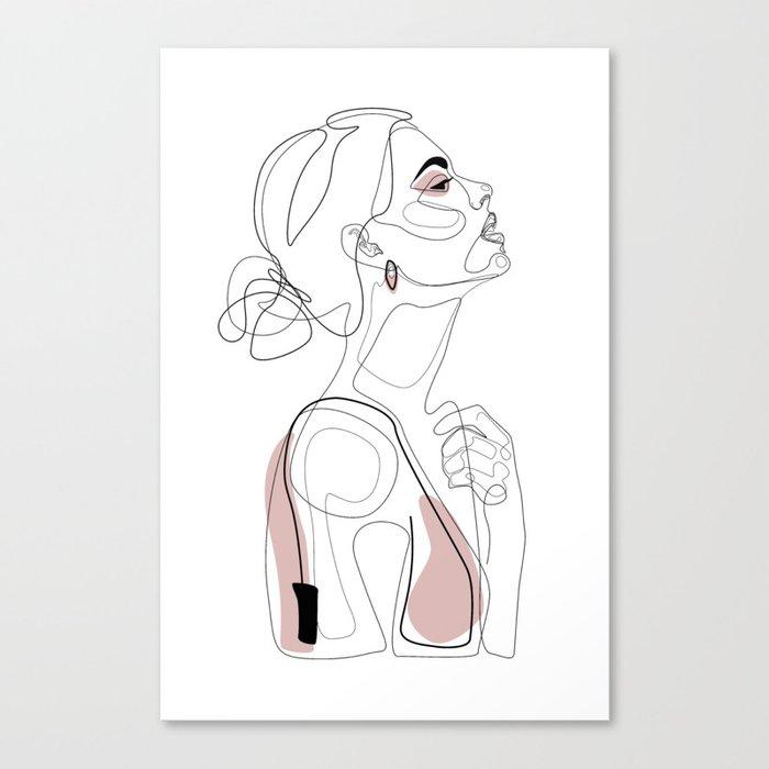 Blush Beauty Canvas Print
