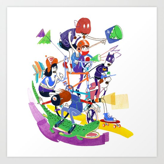 All Together Now! Art Print