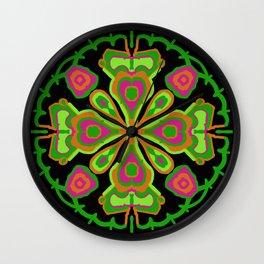 Fluoro mandala Wall Clock