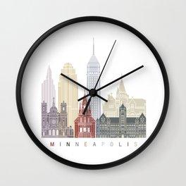 Minneapolis skyline poster Wall Clock
