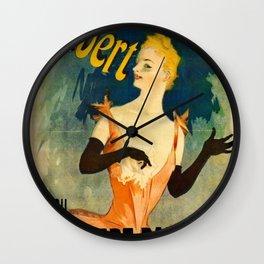 Yvette Guilbert 1891 By Jules Cheret | Reproduction Art Nouveau Wall Clock