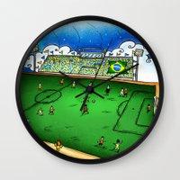 brasil Wall Clocks featuring Brasil by Henrique Abreu