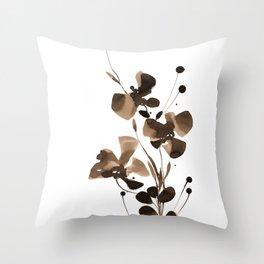 Organic Impressions 334zd by Kathy Morton Stanion Throw Pillow