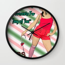 Mars Hates Christmas - Jingle Presents Wall Clock
