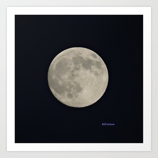 Another August Moon Art Print