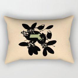 Massachusetts - State Papercut Print Rectangular Pillow