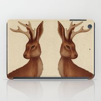 jackalope iPad Cases featuring Jackalope by Sarah DC