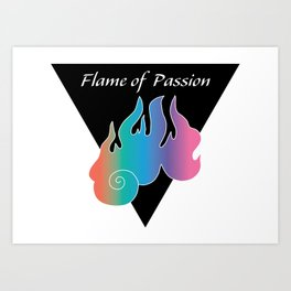 Flame of Passion_Rainbow Art Print