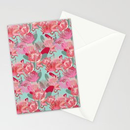 Flamingos and Proteas Stationery Cards