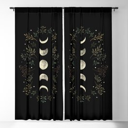 Moonlight Garden - Olive Green Blackout Curtain