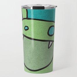 Slightly Amused Monsters, V Green Travel Mug