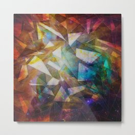 Fractal Nebula Metal Print