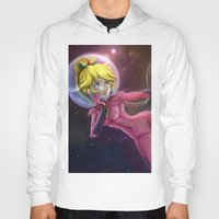 princess peach Hoodies featuring Princess Peach by Luiz Raffaello de Negreiros