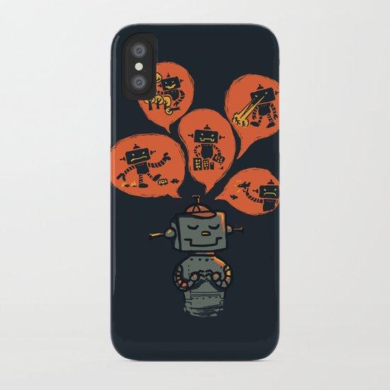 When I grow up - an evil robot dream iPhone Case