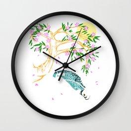 Traditional Asian Koi Fish Product Japaneses Carp Koi Pond Print Wall Clock
