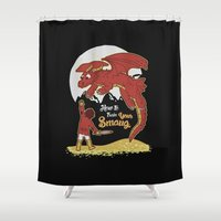 how to train your dragon Shower Curtains featuring How to Train your Smaug! by Loku