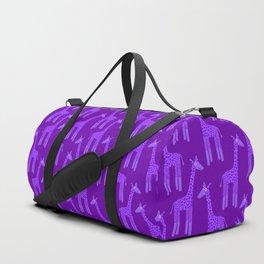 Giraffes-Purple Duffle Bag