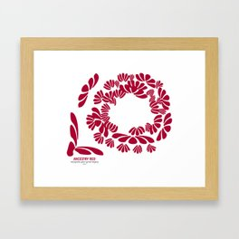ANCESTRY RED: recognize your great legacy Framed Art Print