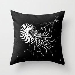 Nautilus Dominus Throw Pillow