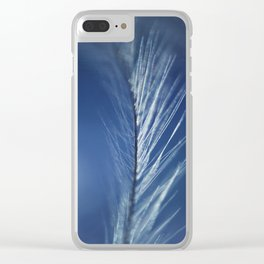 Winter Feathers Clear iPhone Case