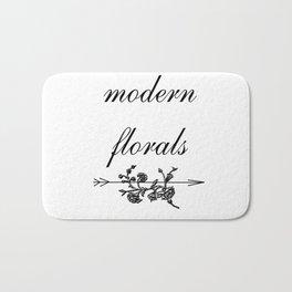 modern florals 2 . flowers . art Bath Mat