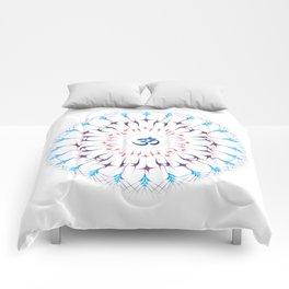 Ohm mandala or Sri Chakra energy generator Comforters