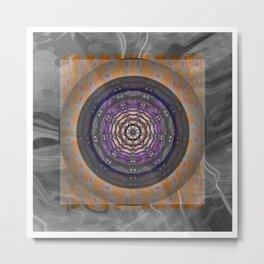 All Soul's Night Spider Web Psychedelic Mandala Metal Print