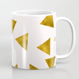 Soft Pink And Rustic Gold Triangles Coffee Mug