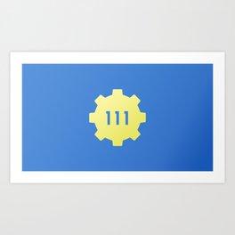 Vault 111 Art Print