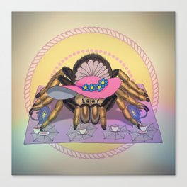 Tarantula tea party Canvas Print