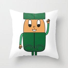 Cinnamon-Stick Egg Throw Pillow