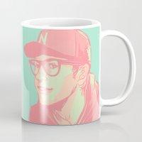 bubblegum Mugs featuring Bubblegum by Rosketch