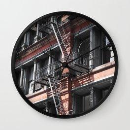 NY stairs Wall Clock