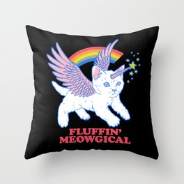 Fluffin' Meowgical Throw Pillow