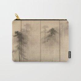 Hasegawa Tohaku - Pine Trees Six-Fold Japanese Screen Carry-All Pouch